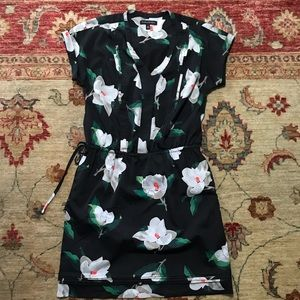 Banana Republic black floral dress